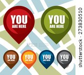 Stock vector vector you are here map pointer icon 273830510