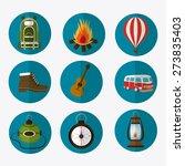 camping design over white... | Shutterstock .eps vector #273835403