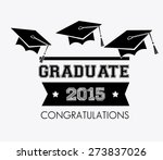 graduation design over white...   Shutterstock .eps vector #273837026