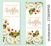 flower blossom. romantic... | Shutterstock .eps vector #273839930