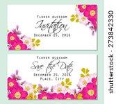 flower blossom. romantic... | Shutterstock .eps vector #273842330
