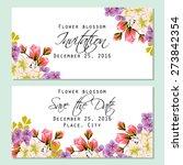 flower blossom. romantic... | Shutterstock .eps vector #273842354
