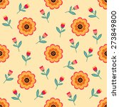 seamless pattern of beautiful... | Shutterstock .eps vector #273849800