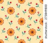 seamless pattern of beautiful... | Shutterstock .eps vector #273849800