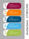 infographic templates for... | Shutterstock .eps vector #273851540