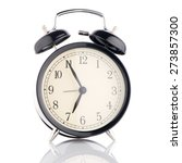 old fashioned alarm clock on... | Shutterstock . vector #273857300