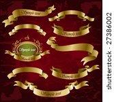 vintage set of golden ribbons | Shutterstock .eps vector #27386002