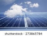 solar power panel against blue... | Shutterstock . vector #273865784