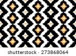 ikat seamless vector pattern | Shutterstock .eps vector #273868064