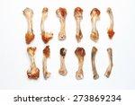 gnawed chicken bones | Shutterstock . vector #273869234
