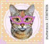 vector vintage cat with...   Shutterstock .eps vector #273878036