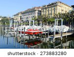 The Lake Front At Lugano On...