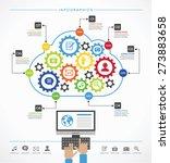 cloud services concept. cloud...   Shutterstock .eps vector #273883658