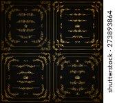 Vector Set Of Gold Decorative...