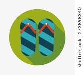 flip flop flat icon with long... | Shutterstock . vector #273898340
