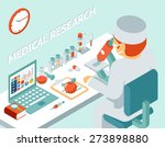 medical research 3d isometric... | Shutterstock . vector #273898880