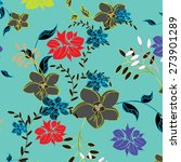 vector seamples pattern flower  | Shutterstock .eps vector #273901289