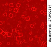 red abstract gift background... | Shutterstock . vector #273902519