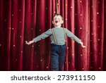 young boy dressed as clown... | Shutterstock . vector #273911150