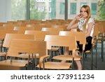 businesswoman contemplating at...   Shutterstock . vector #273911234