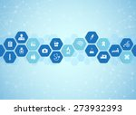 medical background and icons to ... | Shutterstock .eps vector #273932393