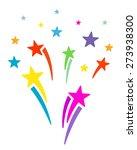 fireworks explosion. cartoon... | Shutterstock . vector #273938300
