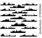 the contours of warships.... | Shutterstock .eps vector #273940364