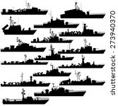 the contours of warships ... | Shutterstock .eps vector #273940370