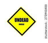 Undead  Black Stamp Text On...