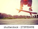 young skateboarder... | Shutterstock . vector #273950498