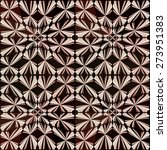 dark brown geometric ornament... | Shutterstock . vector #273951383