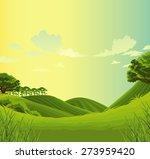 beautiful  landscape green... | Shutterstock . vector #273959420