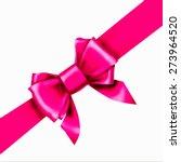 Pink Bow Ribbon Gift Vector
