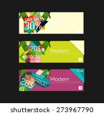 set of banners with stickers ... | Shutterstock .eps vector #273967790