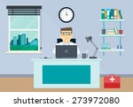doctor workplace with office... | Shutterstock .eps vector #273972080