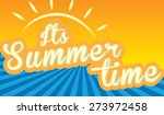 summer time poster. vector... | Shutterstock .eps vector #273972458