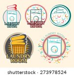 laundry room label and badge....   Shutterstock .eps vector #273978524
