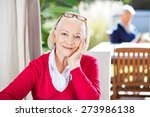 portrait of beautiful senior... | Shutterstock . vector #273986138