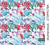 watercolor vector pattern with... | Shutterstock .eps vector #273991784