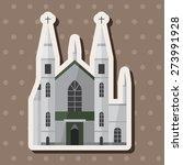 castle   cartoon sticker icon | Shutterstock . vector #273991928