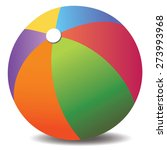 colorful beach ball vector | Shutterstock .eps vector #273993968