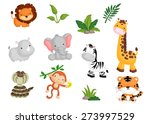 jungle animal vector set | Shutterstock .eps vector #273997529