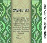 leaves hand drawn background... | Shutterstock .eps vector #273999500