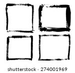 grunge vector frames collection | Shutterstock .eps vector #274001969