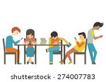 group of student at teen age ... | Shutterstock .eps vector #274007783