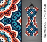 dress with seamless pattern.... | Shutterstock .eps vector #274011668