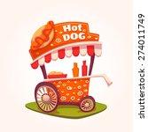 vector flat illustration of hot ... | Shutterstock .eps vector #274011749