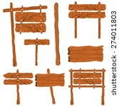 wooden sign board | Shutterstock .eps vector #274011803