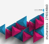 geometric triangle shapes... | Shutterstock .eps vector #274014860