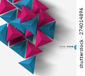 geometric triangle shapes... | Shutterstock .eps vector #274014896